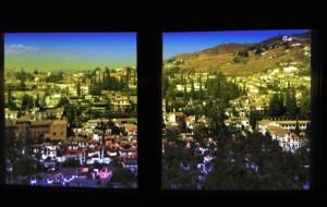 Granada Spain View out of Puerta de Las Granadas