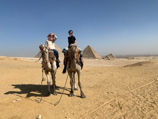 Took some time off and visited Egypt during the transition