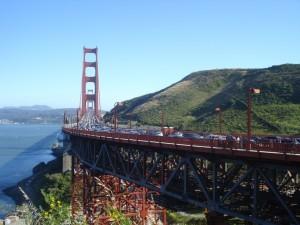 Golden Bridge under a clear sky