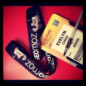 Evelyn Chou's badge for SES Chicago - SEO SEM SoMe